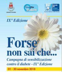 """Campagna prevenzione Diabete """"Forse non sai che … IX edizione"""" –"""
