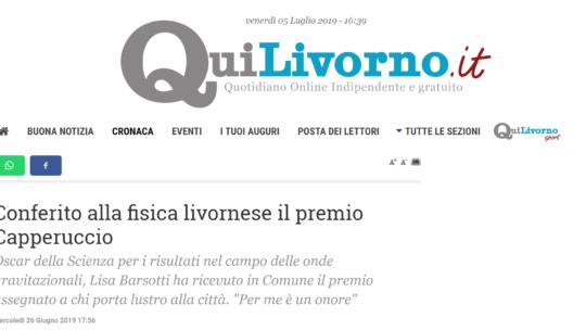 Qui Livorno – Conferito alla  fisica livornese il premio Capperuccio