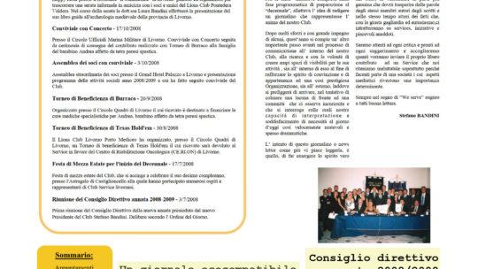Notiziario Anno 2008 n. 01