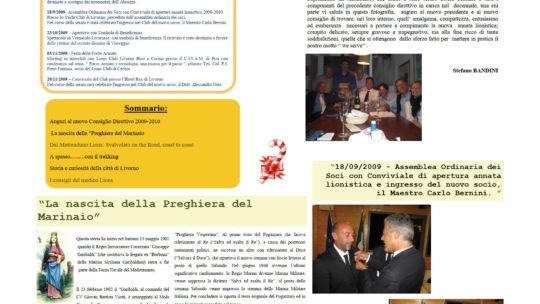 Notiziario Anno 2009 n. 05