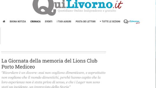 QuiLivorno – La Giornata della memoria del Lions Club Porto Mediceo