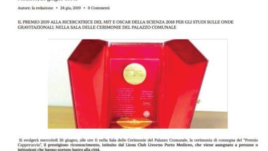 Toscana Today – Consengna del premio Capperuccio a Lisa Barsotti