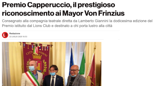LivornoToday – Livorno Lions, il Premio Capperuccio va ai Mayor Von Frinzius