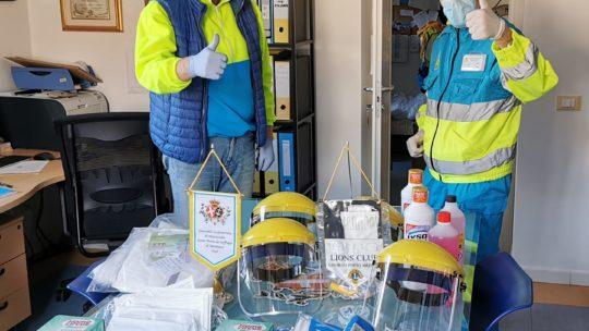 Consegnato alla Misericordia di Montenero il materiale sanitario acquistato dal Club
