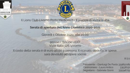 Charter Night e Passaggio della Campana del Lions Club Livorno Porto Mediceo